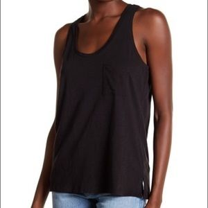🍁Madewell Slub Knit Scoop Neck Tank Black Large